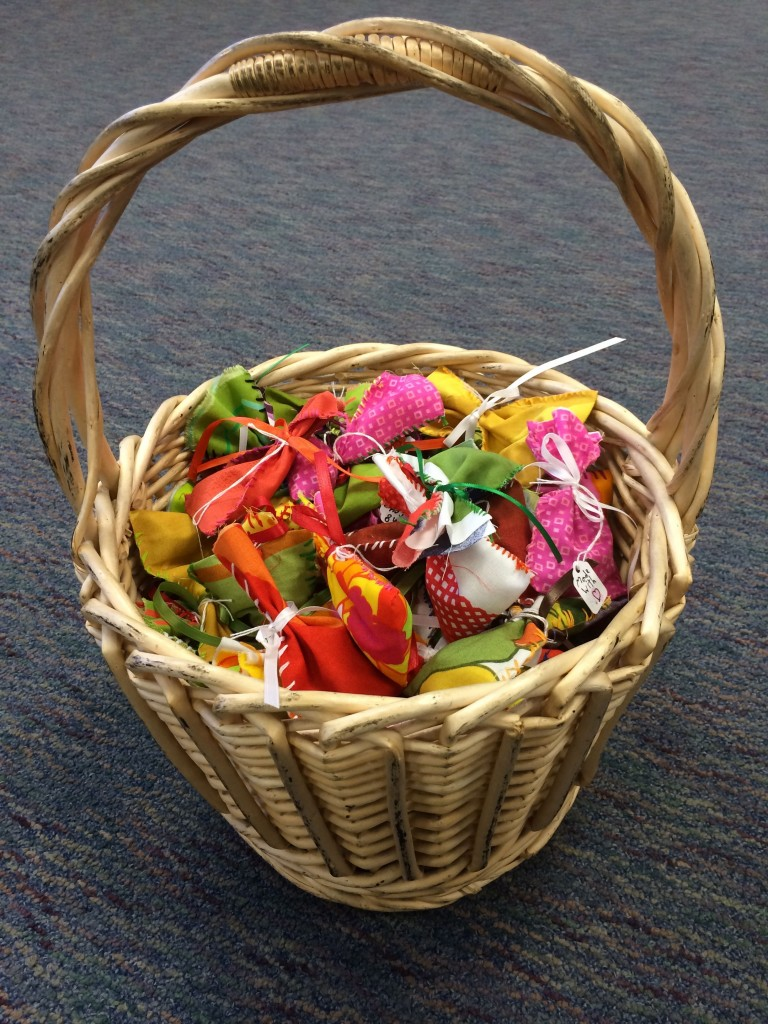 basket of sachets